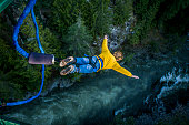 istock Bungee jumping. 547436912