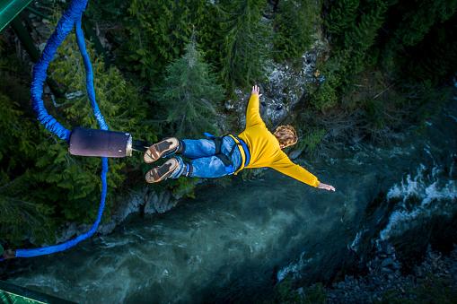 Foto de Bungee Jumping e mais fotos de stock de Adrenalina