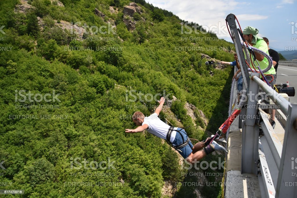 82b00b42a39a Bungee Jumping Stock Photo   More Pictures of Activity