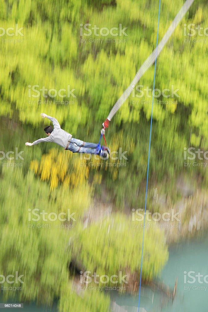 Bungy jump off Kawarau Bridge, Queenstown NZ royalty-free stock photo
