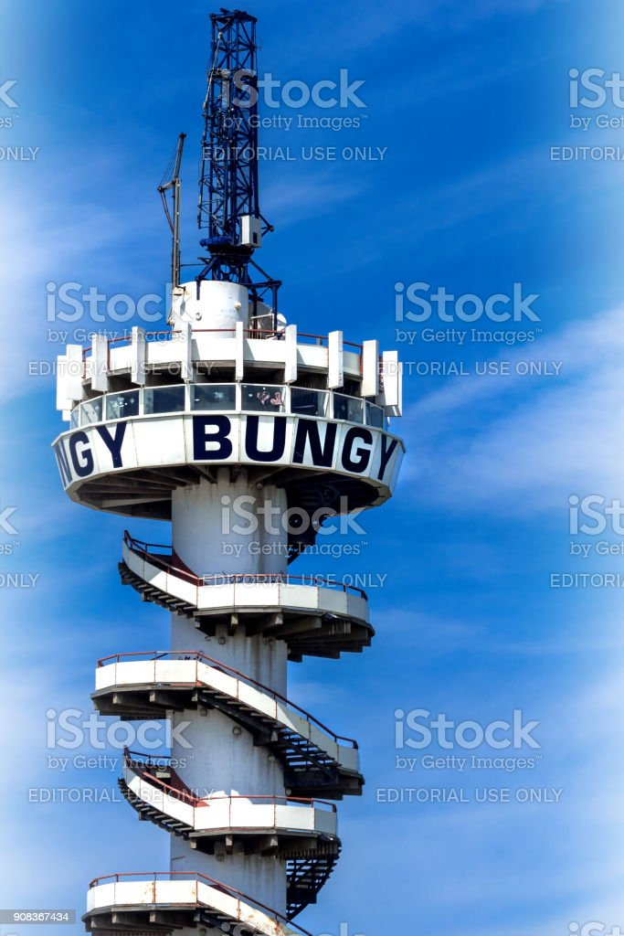 Bungy-Tower stock photo