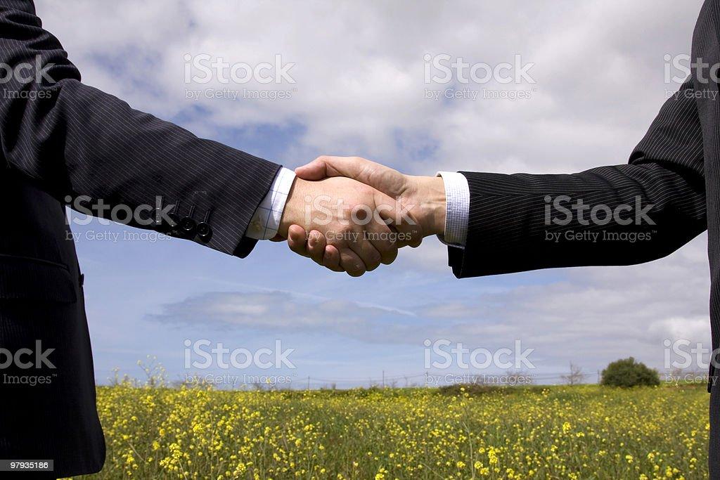 Bunisess deal royalty-free stock photo