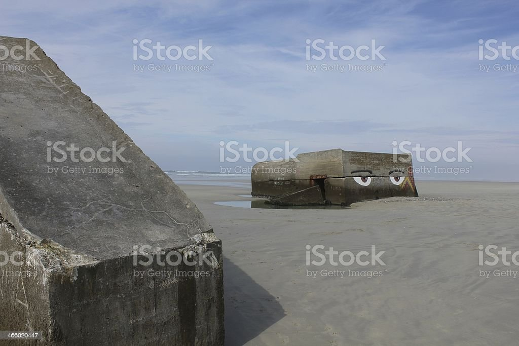 Bunker by the Ocean royalty-free stock photo