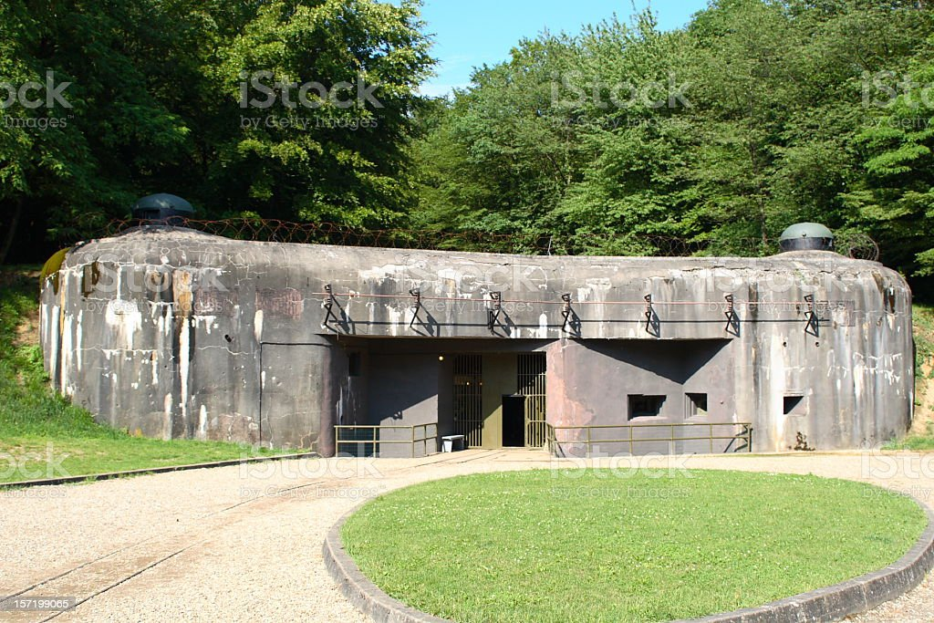 Bunker in Schoenenburg stock photo