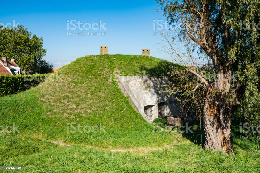 Bunker in Willemstad, Nederland foto