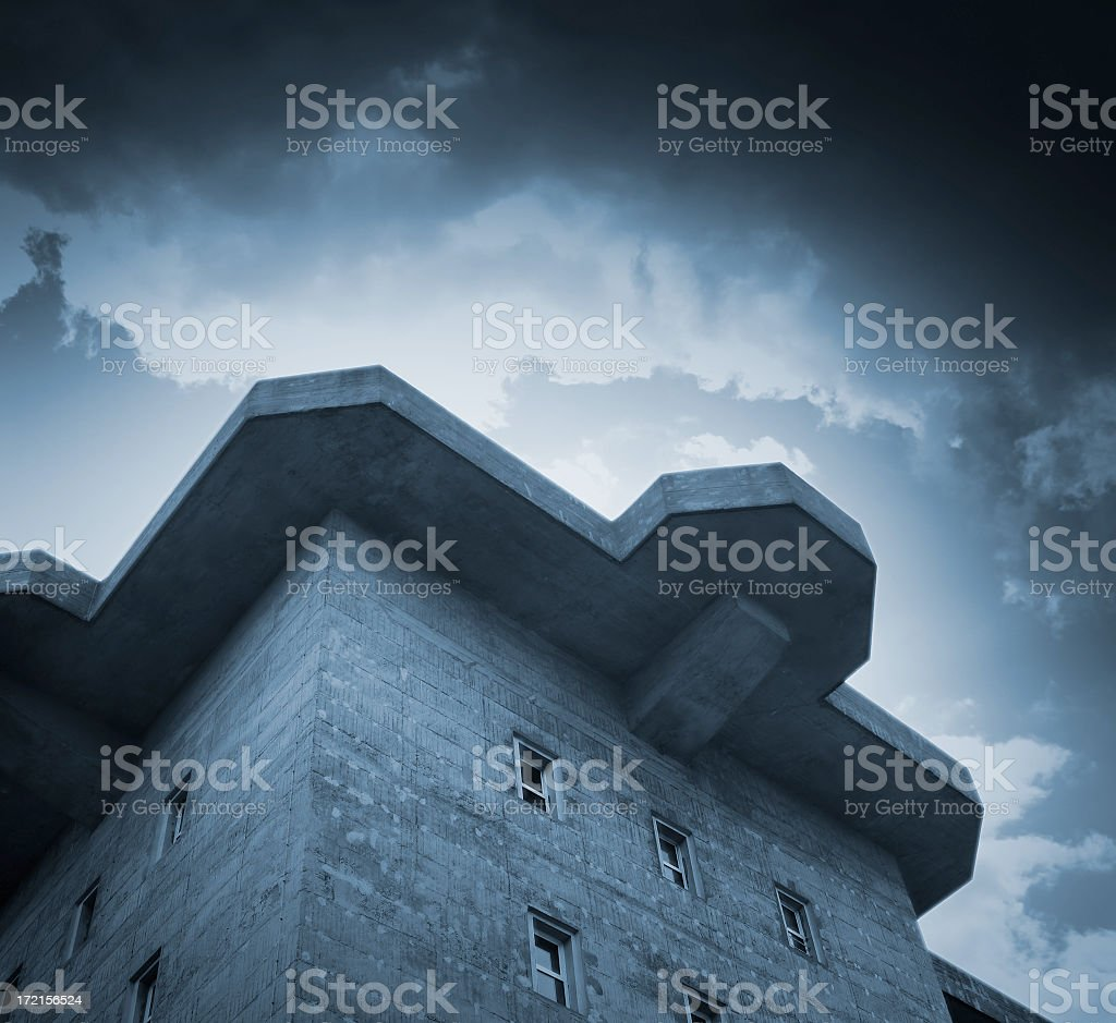 Bunker (Blue) royalty-free stock photo