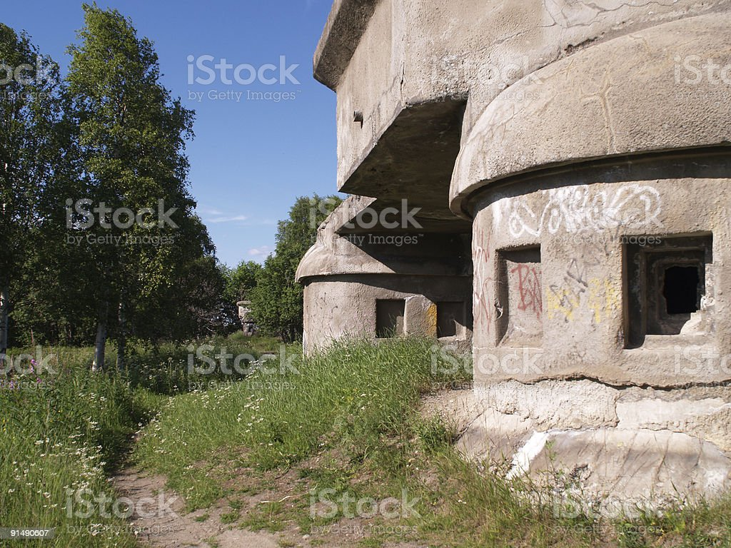 Bunker royalty-free stock photo