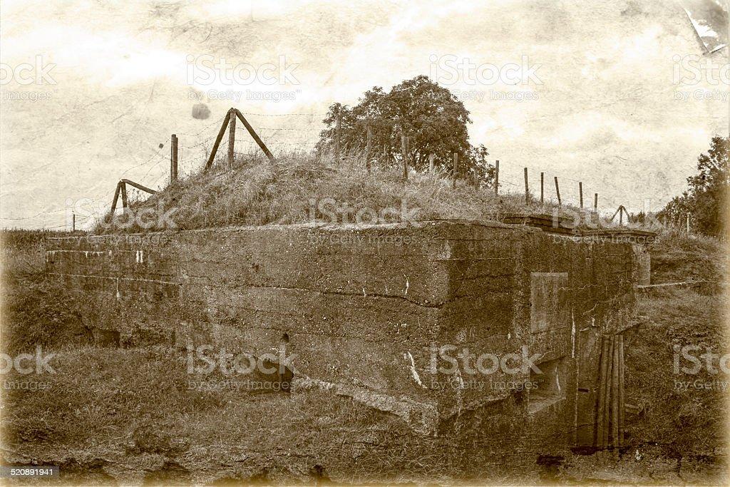 Bunker pillbox great world war 1 flanders belgium stock photo