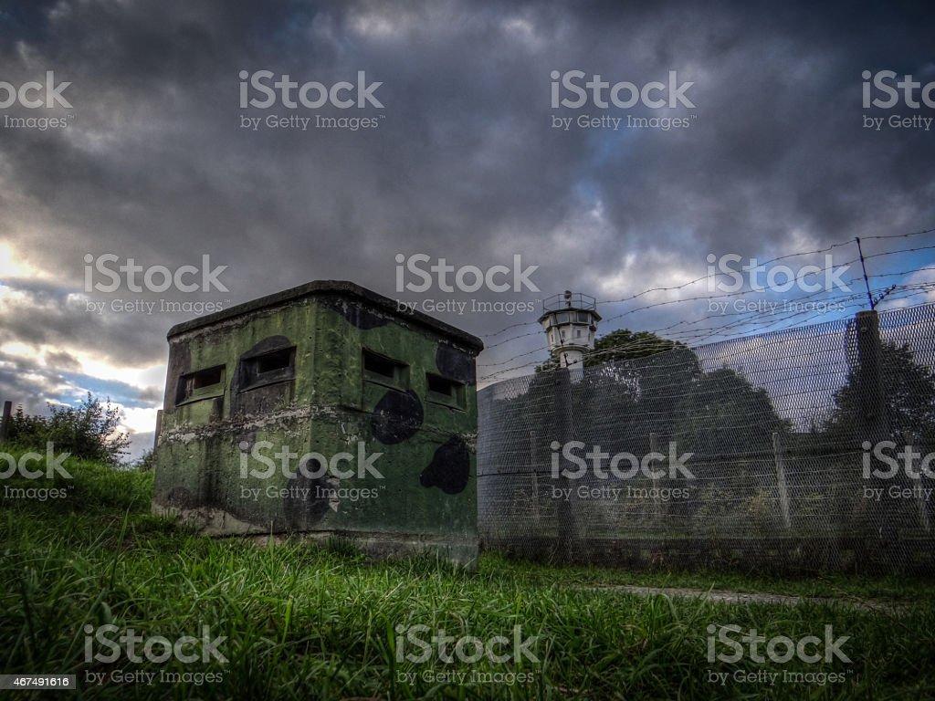 DDR Bunkeranlage stock photo