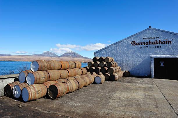 Bunnahabhain Distillery stock photo