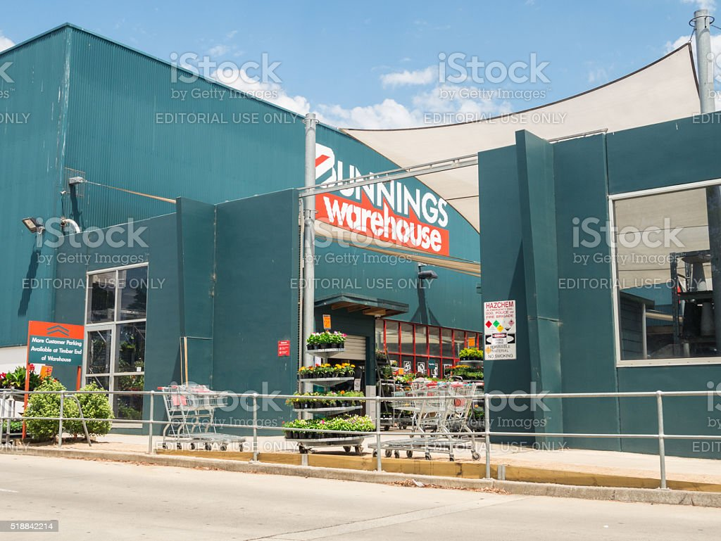 Bunnings Warehouse in Melbourne stock photo