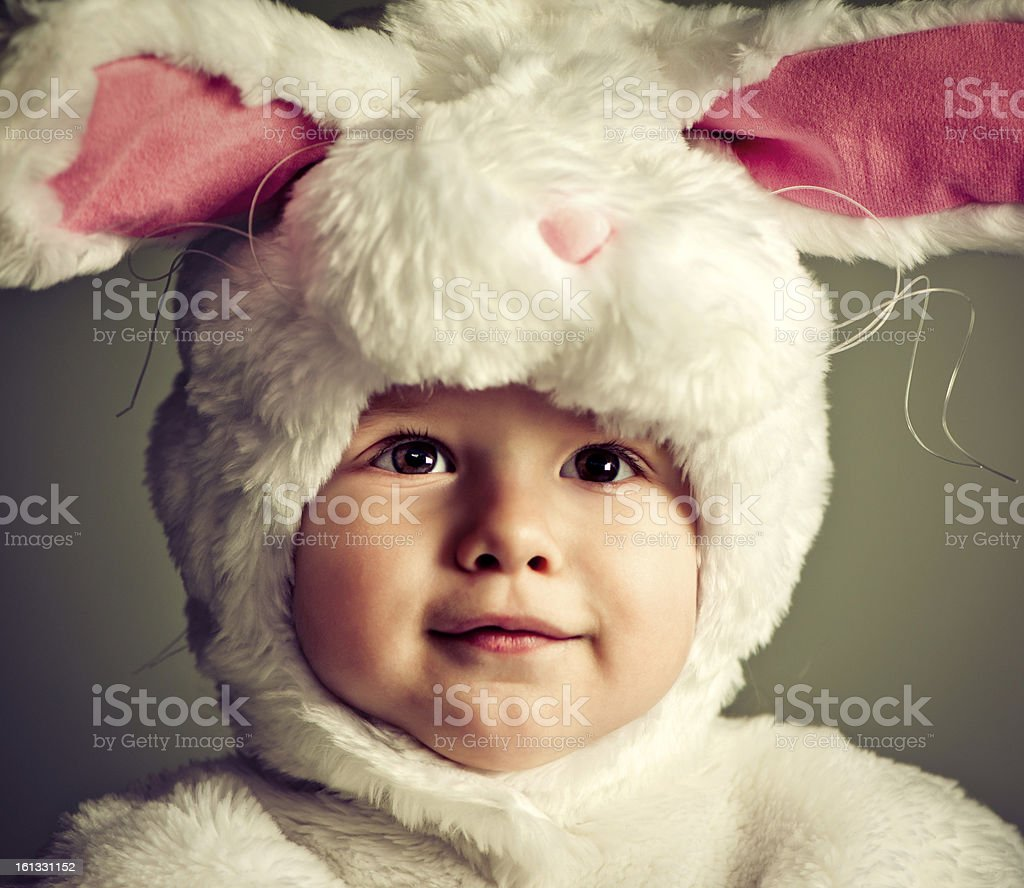 Bunny babe stock photo