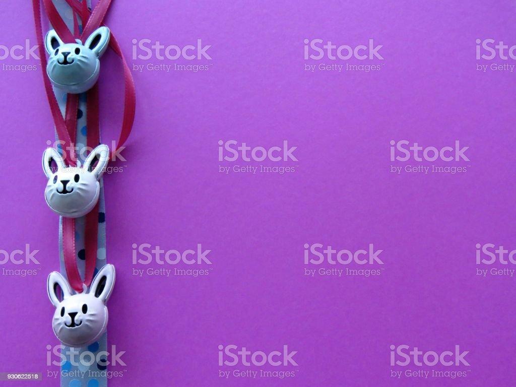 bunny borders on backgrounds stock photo