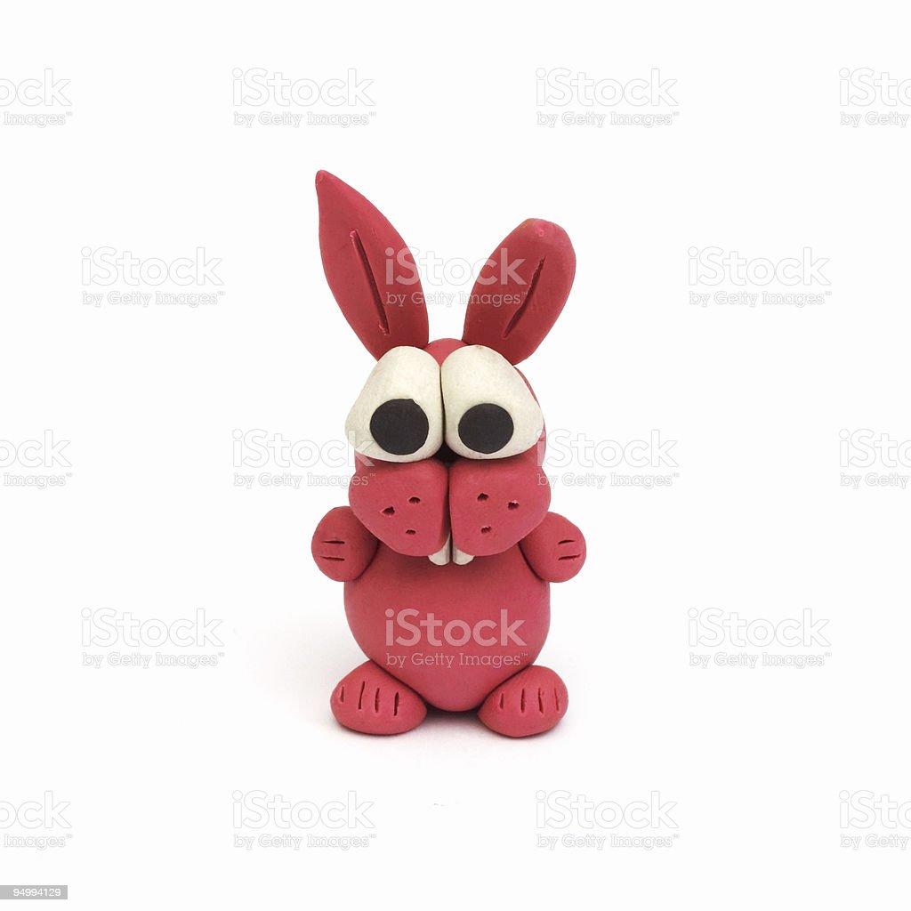 Bunny, clay modeling royalty-free stock photo