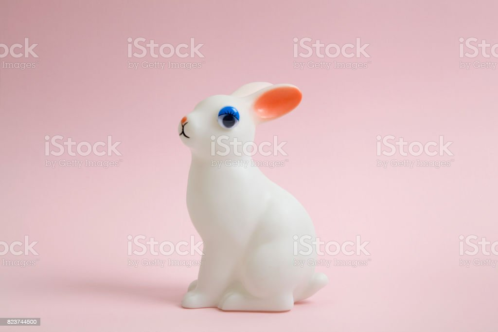 Bunny eye doll stock photo