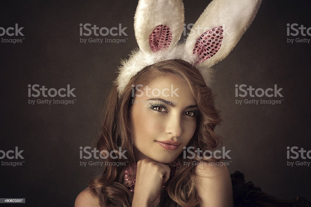 bunny girl stock photo