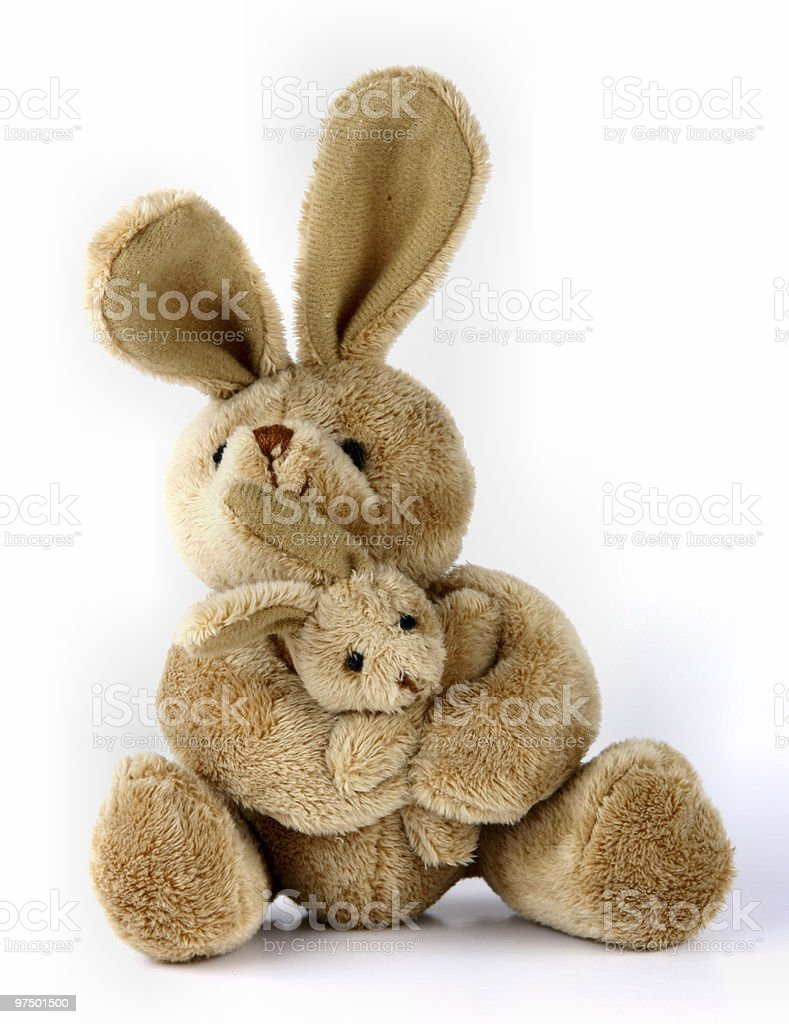 Bunny rabbit cuddly toy royalty-free stock photo