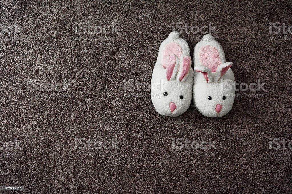 Bunny Slippers royalty-free stock photo