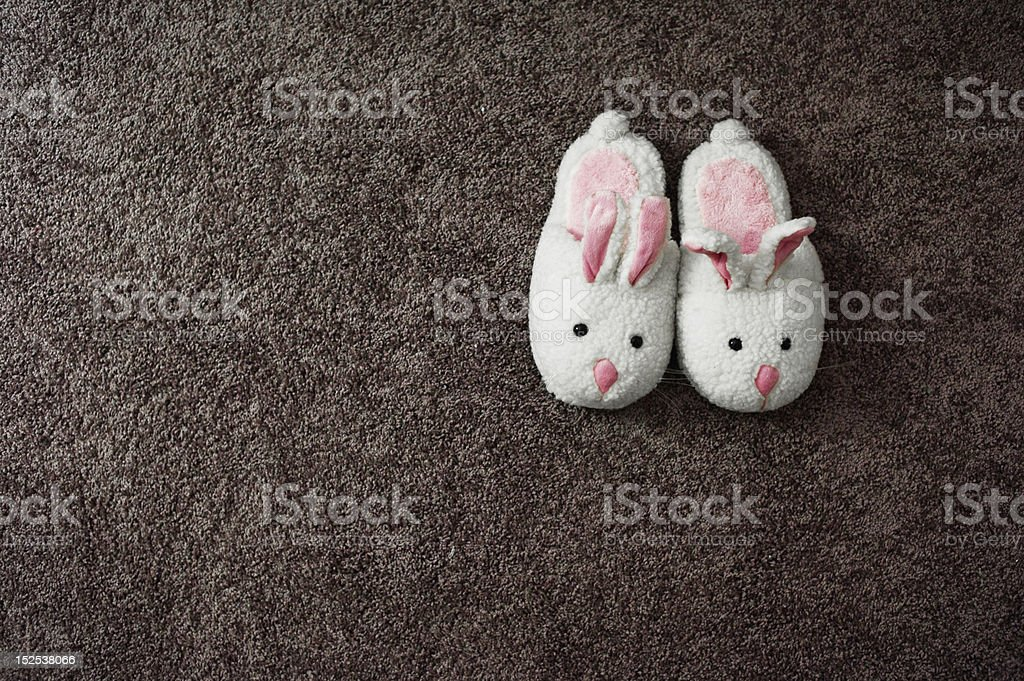 Bunny Slippers stock photo