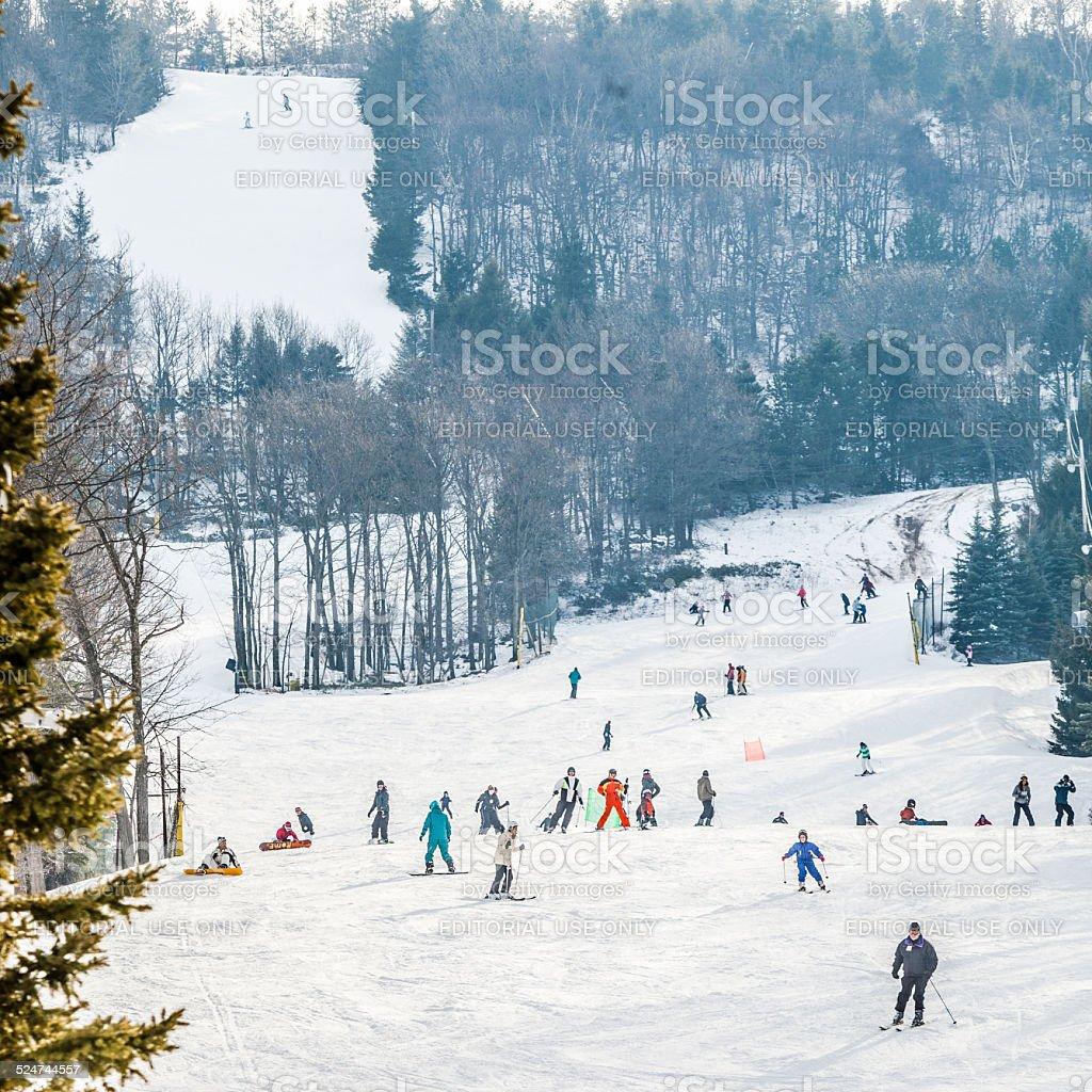 Bunny Slope At The Ski Resort Stock Photo - Download Image ...