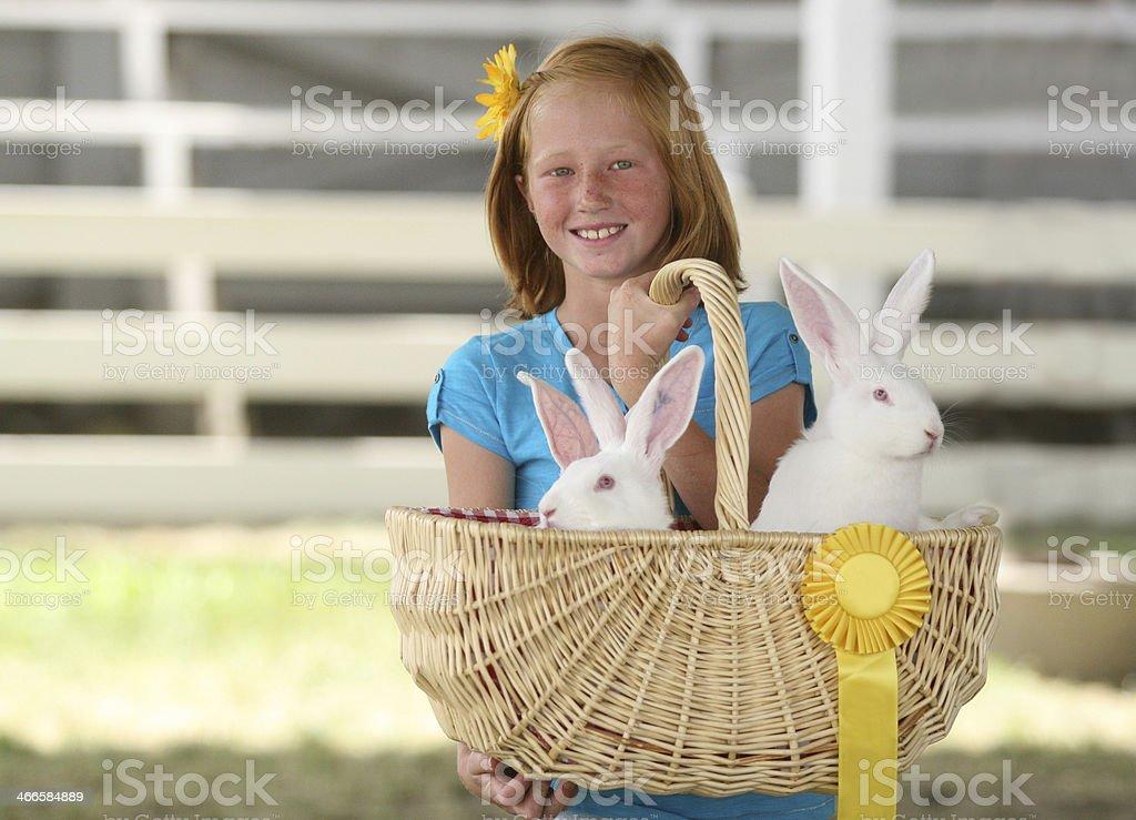 Bunnys at the County Fair stock photo