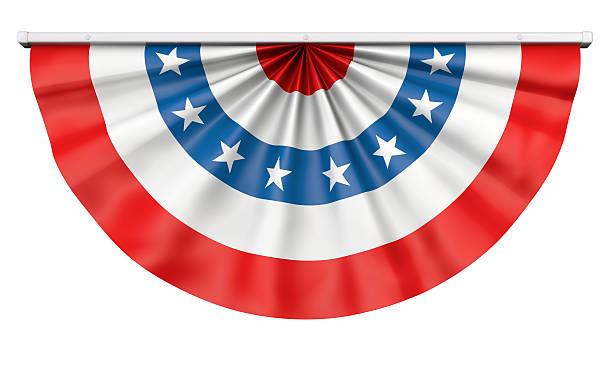 guirlande de fanions drapeau américain - demi cercle photos et images de collection