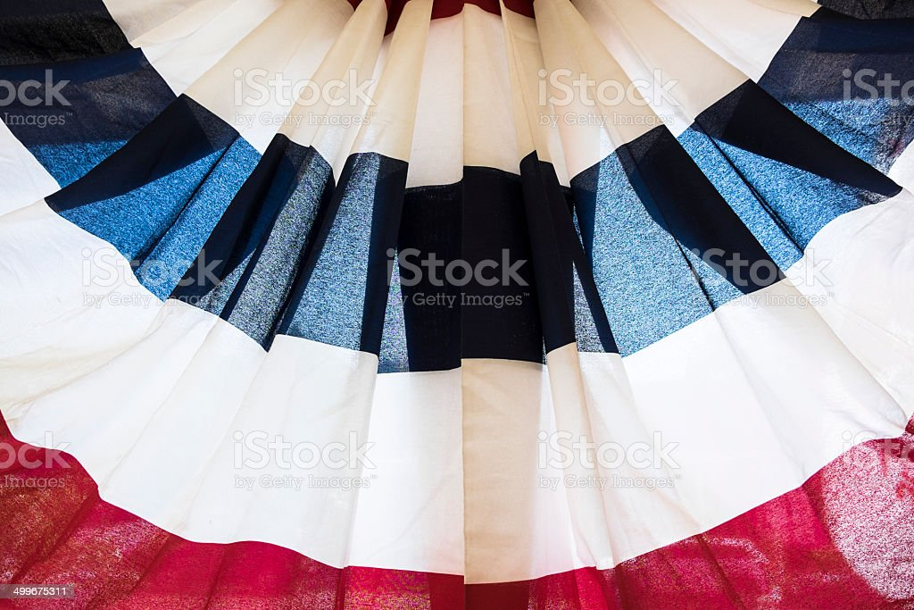 Bunting, Backlit, Red, White, Blue royalty-free stock photo