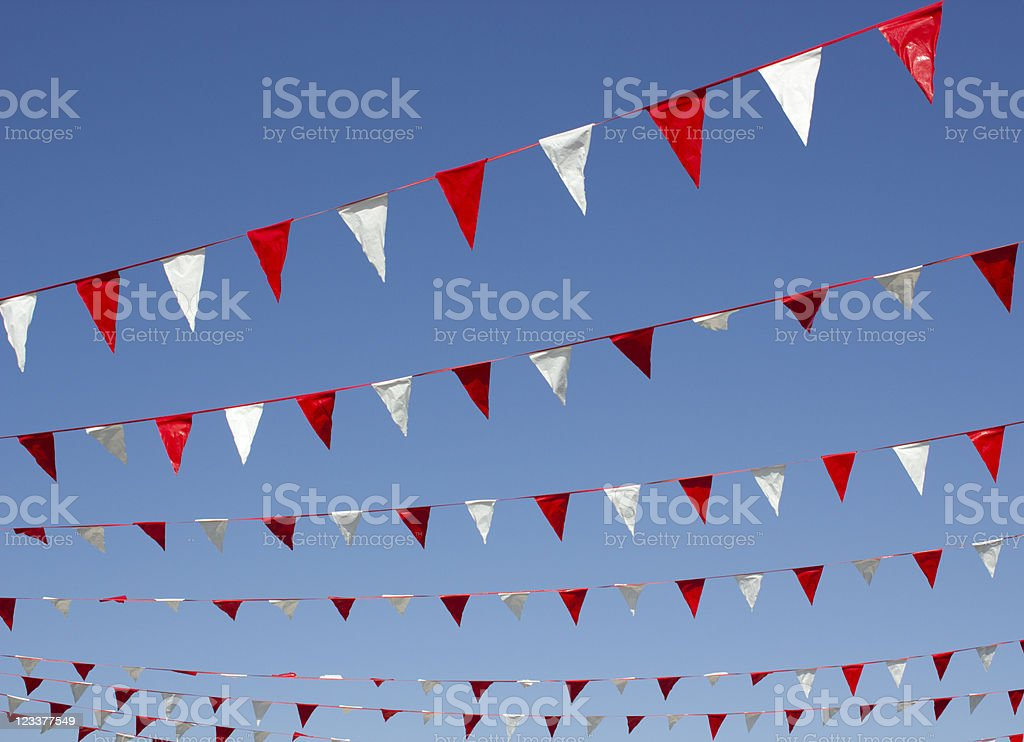 Bunting Hanging stock photo