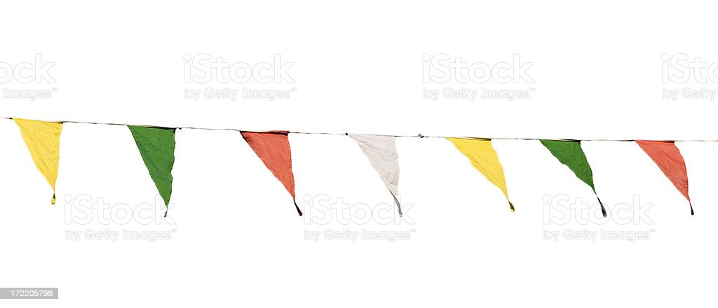 Bunting isolated on white stock photo