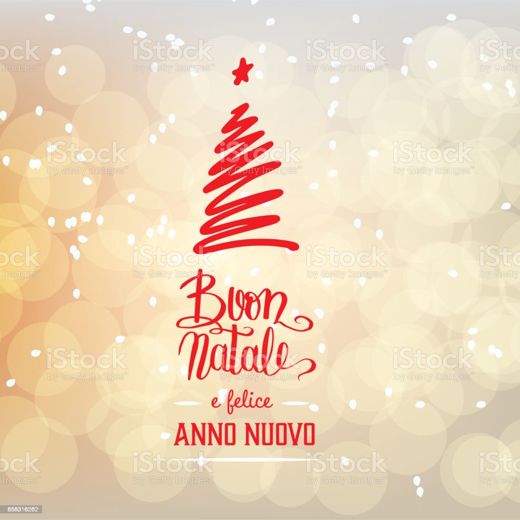 buon natale e felice anno nuovo merry christmas and happy new year in