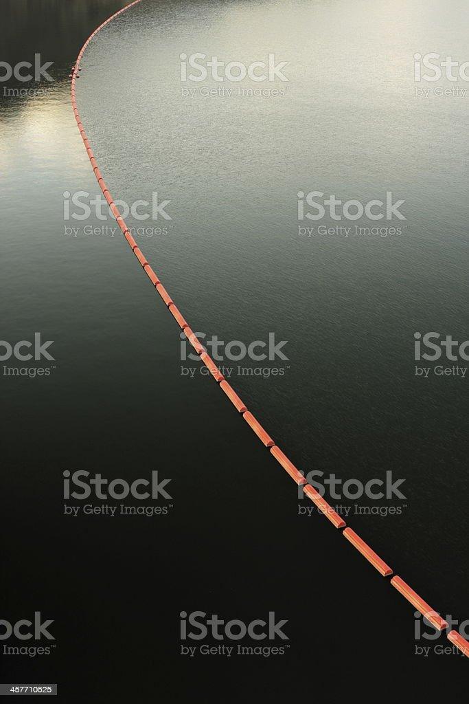 Buoy Arc Dam Spillway Water royalty-free stock photo