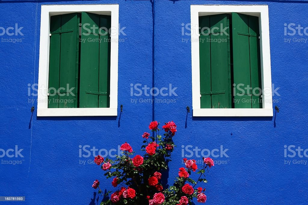 Burano beautiful facade royalty-free stock photo