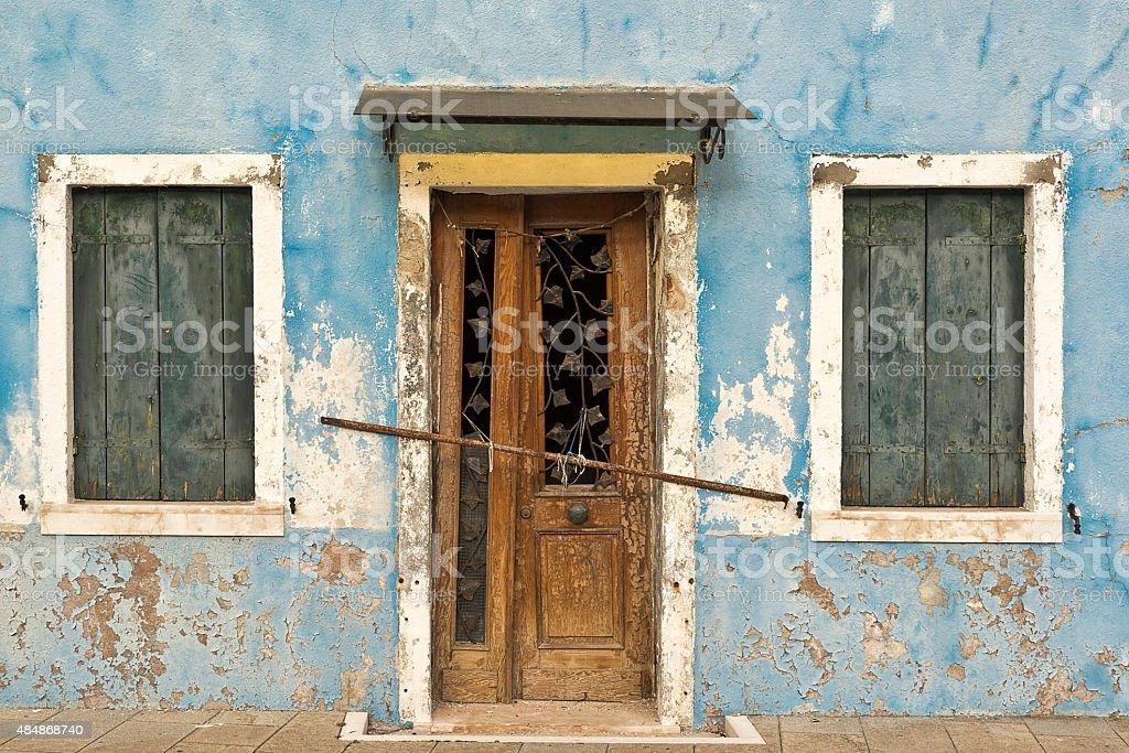 Burano Blue royalty-free stock photo