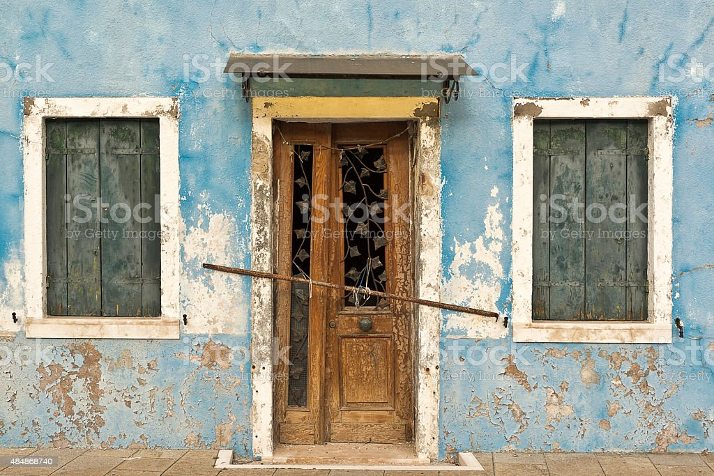 Burano Blue stock photo