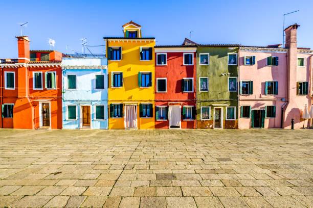 Burano-berühmte Altstadt-Italien – Foto