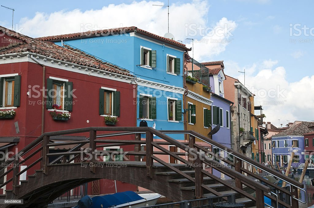 Isola di burano foto stock royalty-free