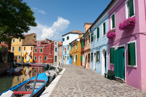 Burano Street Stock Photo - Download Image Now