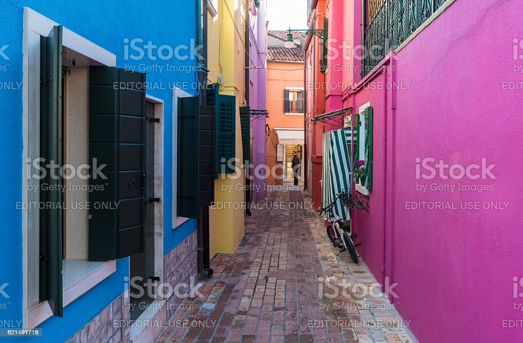 Burano, the the colorful island of Venice (Italy) foto stock royalty-free