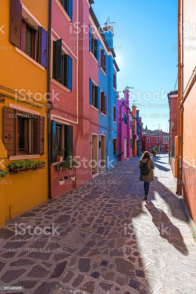 Burano, the the colorful island of Venice (Italy) photo libre de droits