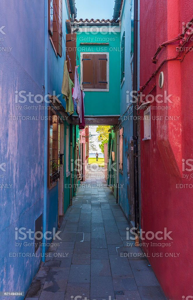 Burano, the the colorful island of Venice (Italy) photo libre de droits