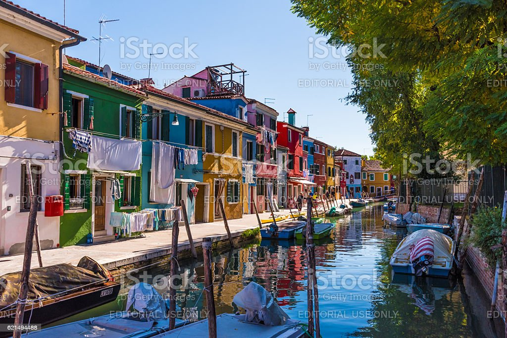 Burano, the the colorful island of Venice (Italy) Lizenzfreies stock-foto