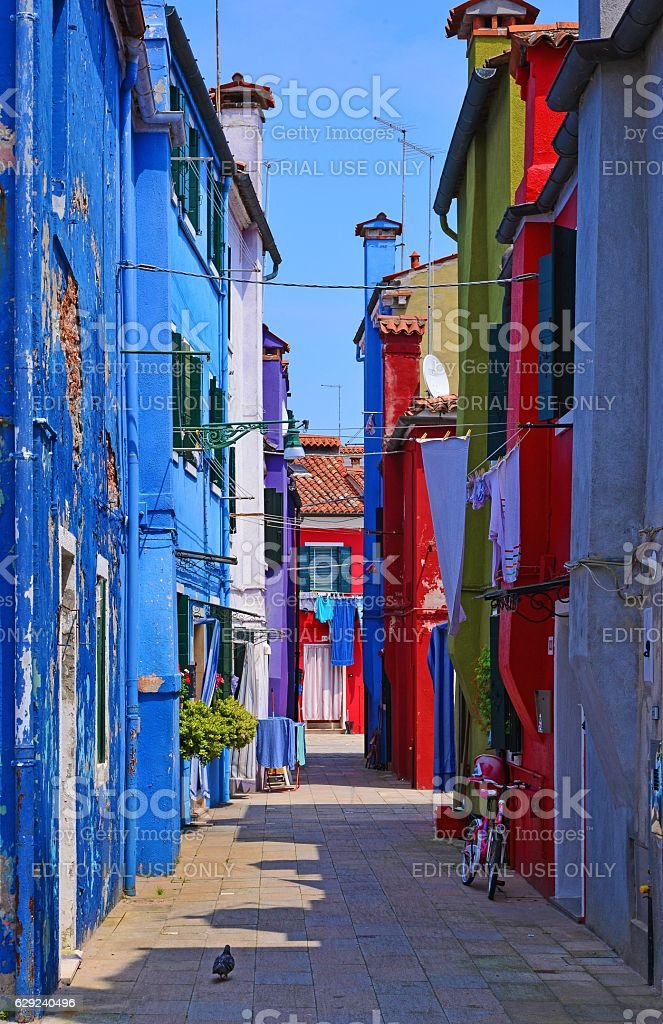 Burano, the the colorful island of Venice (Italy) stock photo