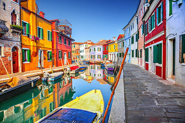 Burano, Venedig, Italien – Foto