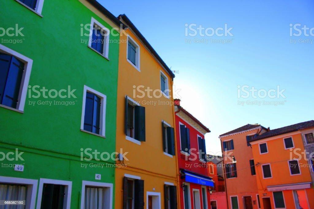 Burano, Venice, Italy stock photo