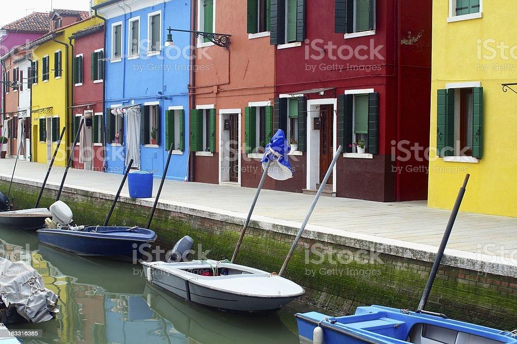 Burano waterfront royalty-free stock photo