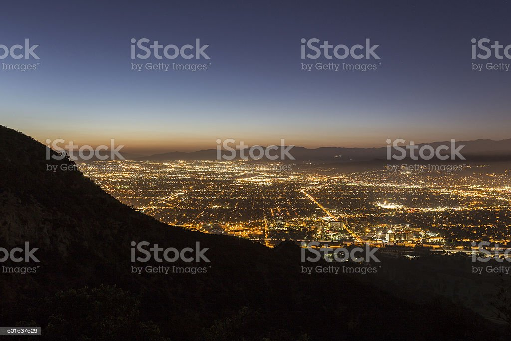 Burbank California Night stock photo