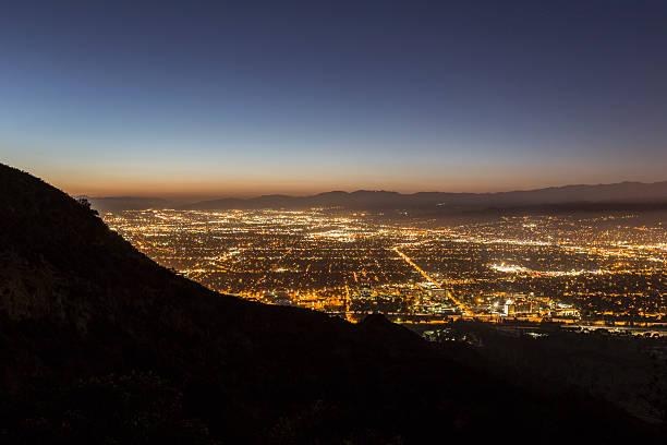 burbank california night - san fernando valley stock photos and pictures