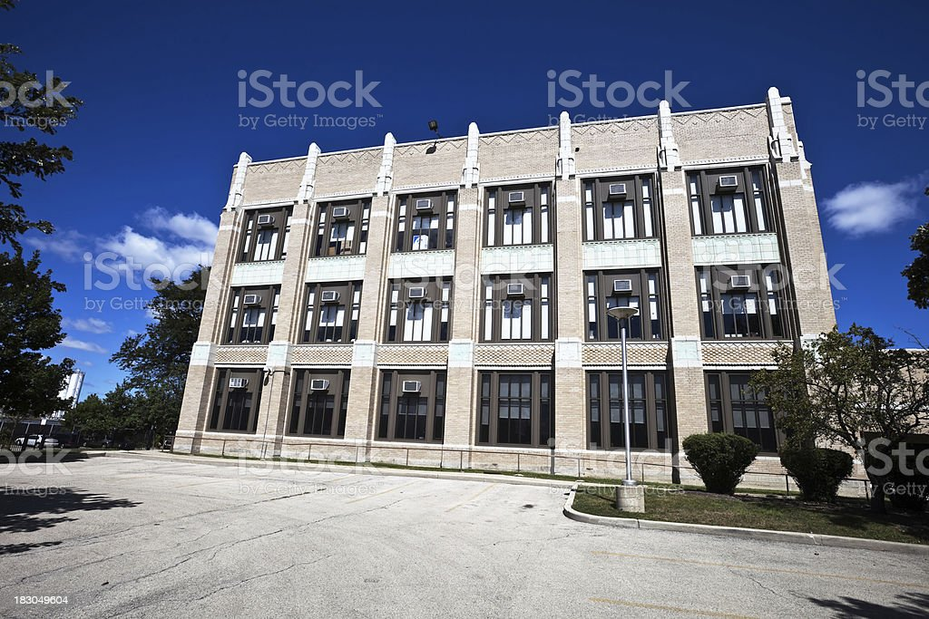 Burbank Elementary School in Belmont Cragin, Chicago royalty-free stock photo