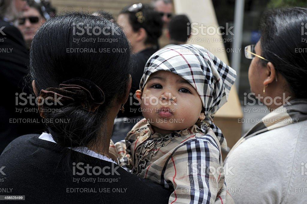 Burberry baby stock photo