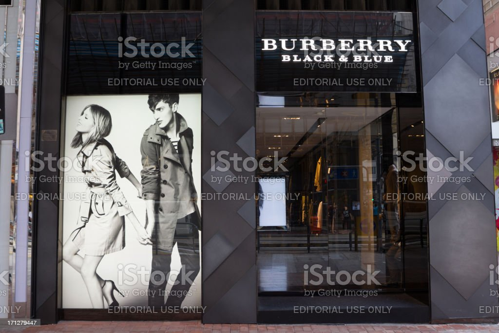 Burberry Black & Blue in Hong Kong stock photo